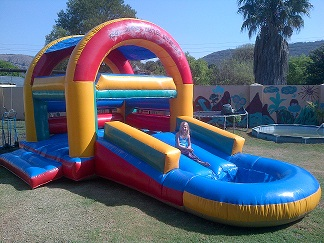 3 in 1 with roof jumping castle