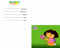 dorah the explorer birthday invitation